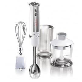 Blender ręczny REDMOND RHB-2939E ( 800W - biały srebrny - Minimalakser Trzepaczka Pojemnik do miksowania )